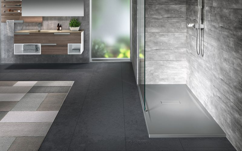 Bac de douche custom 1800x800 mm B.3.5 mm gris ral 7037